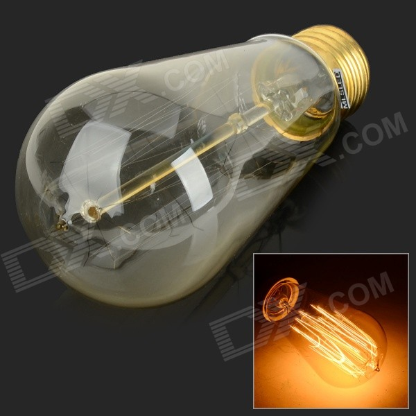 Buy MLSLED MLX-ST58-L E27 40W Warm White Tungsten Filament Bulb (AC 230V) with Litecoins with Free Shipping on Gipsybee.com
