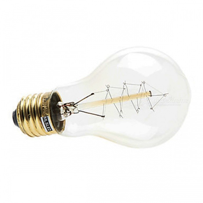 MLSLED MLX-ZDT E27 40W 260lm Warm White Light Tungsten Filament Bulb - Transparent (AC 230V)