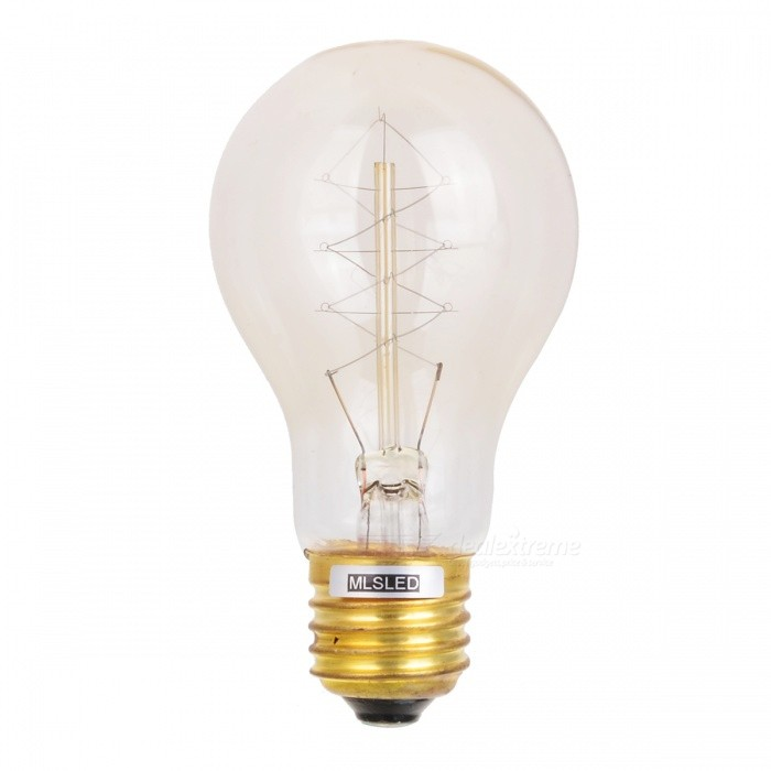Buy MLSLED MLX-A19-Y E27 40W 260lm Warm White Tungsten Filament Bulb - Translucent (AC 230V) with Litecoins with Free Shipping on Gipsybee.com