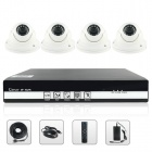 SANNCE NVR6004 + IPC3F19P-I3X4 4-CH POE NVR a 4 x 720p 1.0MP IP kamery Security System (NTSC)