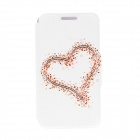 "Kinston KST91688 Hearts Patterned PU Leather Full Body Case w/ Stand for 4.7"" IPHONE 6 - White"