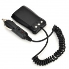 Car Charger w/ Spring Cable for BaoFeng B5 / B6 - Black (12~24V)