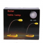 STQ200 Eye Protection 2W 180lm 6-SMD 3528 LED White Light Solar Desk Lamp - Yellow