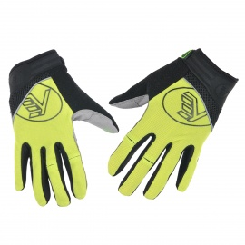 NUCKILY-PD04-Sports-Breathable-Full-Finger-Cycling-Gloves-Yellow-(Size-M)