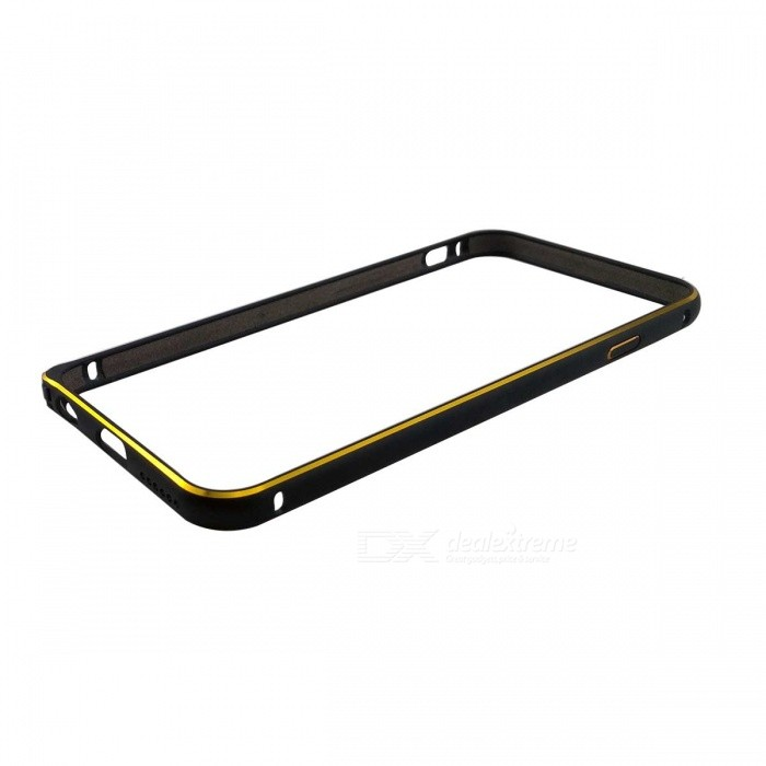 "Protective Arc Shaped Aluminum Alloy Hippocampus Buckle Bumper Frame for IPHONE 6 4.7"" - Black"