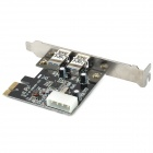 ULANSON PCI-E USB 3.0 2-Port Expansion Card w/ External 4-Pin Connector
