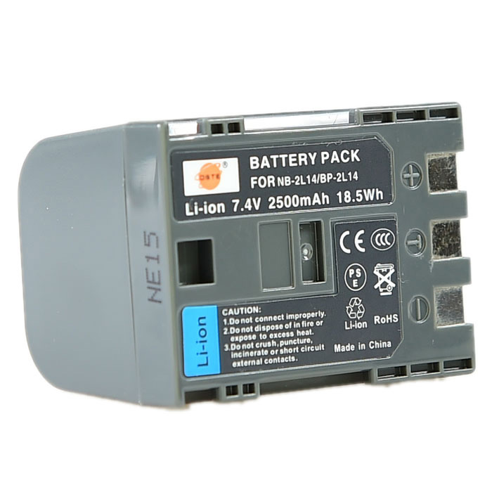 DSTE NB-2L14 / BP-2L14 2500mAh Battery for Canon DV5 / DVM3 / MVX300