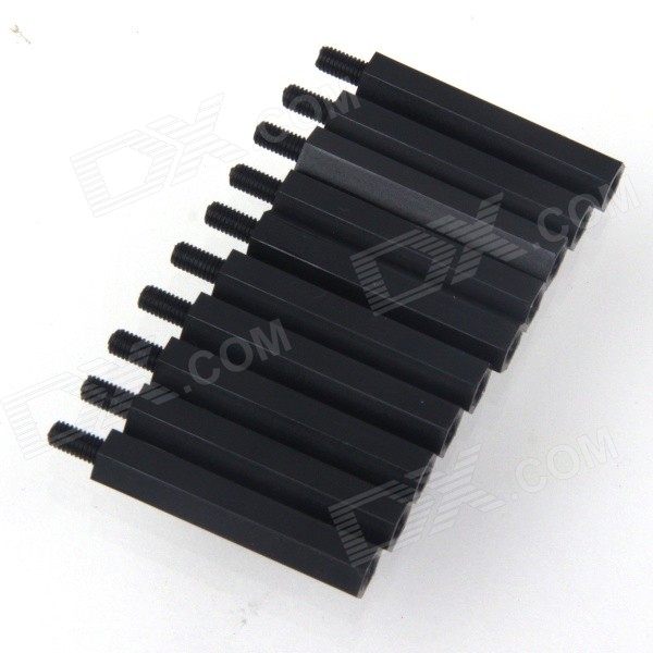 ZnDiy-BRY M3 x 28 + 6 mm Hex nylon Distanziatori pilastri per i modelli Multicopter RC - Nero (10PCS)