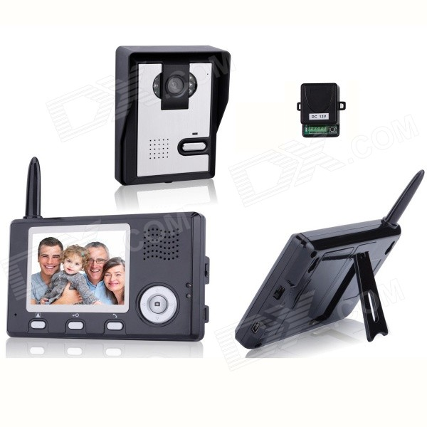 35-Inch-Wireless-Video-Door-Phone-with-Night-Vision-(1-Camera-2-Monitors)