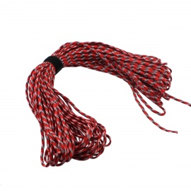 Outdoor Mountaineering Survival Parachute 7-Cord Rope - Red + White (30m)