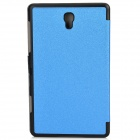 Silk Pattern PU Leather + PC Case w/ Stand / Auto-Sleep for Samsung Galaxy Tab S 8.4 / T700 - Blue