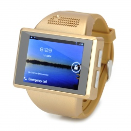 """AN1 2.0"""" Capacitive Touch Screen Android 4.1 Watch Phone w/ 512MB RAM, 256MB ROM, TF - Golden"""