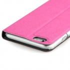 ENKAY Footprint Patterned PU Leather Full Body Case w/ Stand / Window for IPHONE 6 - Deep Pink
