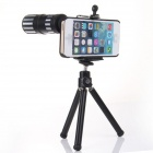 "12x Zoom Telephoto Lens w/ Tripod Mount + Back Case for IPHONE 6 PLUS 5.5"" - Black + Silver"