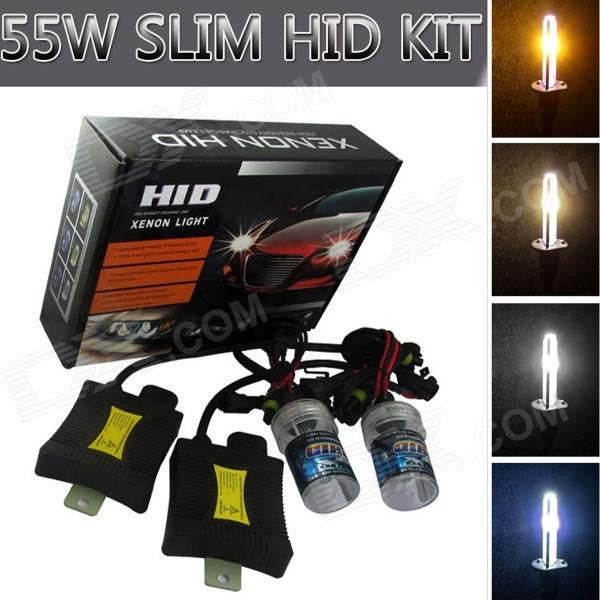 H3 55W 3158lm 6000K Car HID Xenon Lamps w/ Ballasts Kit (Pair)Headlights<br>Color Temperature6000KBrandRichinoModelH3Quantity1 DX.PCM.Model.AttributeModel.UnitMaterialPVCForm  ColorBlackTypeHID Kit SetCompatible Car ModelJapanese, Chinese, South Korean, European and American Mid-range carsTypeDCInput Voltage9~16 DX.PCM.Model.AttributeModel.UnitRate Voltage13.2VOutput Power55 DX.PCM.Model.AttributeModel.UnitColor BIN???Theoretical Lumens3200 DX.PCM.Model.AttributeModel.UnitActual Lumens3158 DX.PCM.Model.AttributeModel.UnitLife Span3000 DX.PCM.Model.AttributeModel.UnitSocket TypeH3Working Temperature-40~105 DX.PCM.Model.AttributeModel.UnitTypeDCInput Voltage9~16 DX.PCM.Model.AttributeModel.UnitRated Working Voltage13.2 DX.PCM.Model.AttributeModel.UnitRated Working Current4.2 DX.PCM.Model.AttributeModel.UnitOutput Power55 DX.PCM.Model.AttributeModel.UnitBiggest StartingCurrent6 DX.PCM.Model.AttributeModel.UnitOperating Temperature-40~105 DX.PCM.Model.AttributeModel.UnitCertificationE4 &amp; ISO-9001:2000 ApprovedPacking List2 x Xenon bulbs (44cm-cable)2 x Ballasts1 x Installation accessories set (144cm-cable)<br>