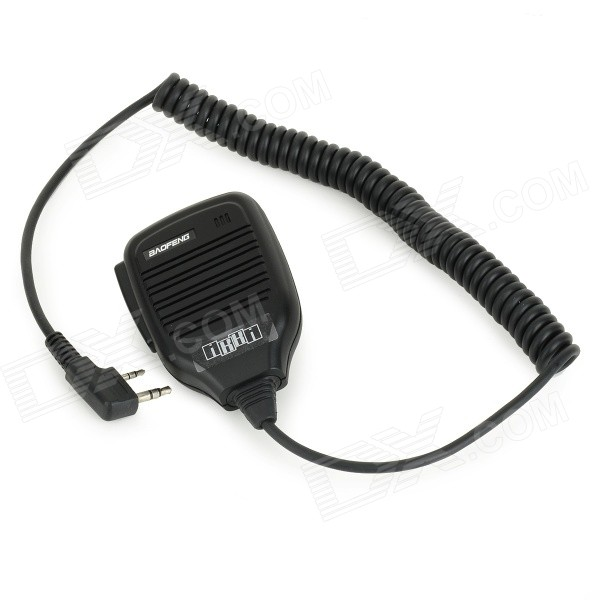 Walkie Talkie Mic for Baofeng UV-5R, UV-5RA, UV-5RE, UV-5RB, UV-5RDWalkie Talkies Supplies<br>Form ColorBlackQuantity1 DX.PCM.Model.AttributeModel.UnitMaterialABSCompatible BrandBaofengCompatible ModelBaofeng UV-5R / UV-5RA / UV-5RE / UV-5RB / UV-5RDOther FeaturesWith spring, elastic length: 100~200cmPacking List1 x Microphone (50cm-cable)<br>