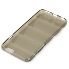 Anti-scratch Shock-resistant Protective TPU Back Case Cover for IPHONE 6 - Translucent Black