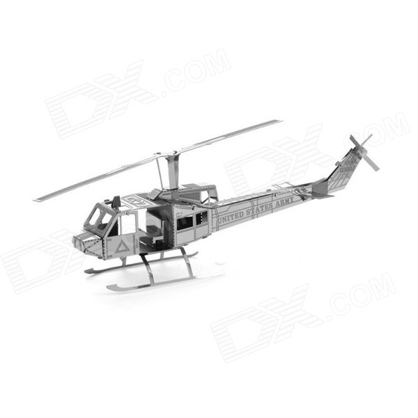 3D Metal Helicopter Assembled Educational Toy for Kids / Children - Antique SilverEducational Toys<br>Form  ColorAntique SilveryBrandN/AModelN/AMaterialMetalQuantity1 DX.PCM.Model.AttributeModel.UnitSuitable Age 3-4 years,5-7 years,8-11 years,12-15 years,Grown upsOther FeaturesPrecise slot-and-tab design.Packing List1 x Toy<br>