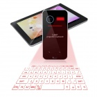 Projection Wireless Bluetooth Virtual Keyboard w/ Laser Mouse for Computer, Tablet, Phone - Black