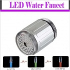 Three Color Temperature LED Water Faucet - Silver + White