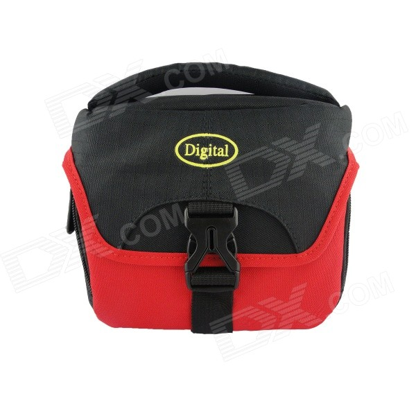 Digital052-RD Camera Case for Canon / Sony / Nikon / Samsung Camera + More - Red + BlackBags and Cases<br>Form  ColorRed + BlackModelDigital052-RDShade Of ColorRedMaterialNylonQuantity1 DX.PCM.Model.AttributeModel.UnitWater ResistantFor daily wear. Suitable for everyday use. Wearable while water is being splashed but not under any pressure.Inner Dimension16 x 13 x 10 cmDimension18.5 x 15 x 10 DX.PCM.Model.AttributeModel.UnitPacking List1 x Digital052-RD Camera Bag<br>