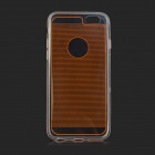 0.1cm Ultra-thin Protective TPU Back Case Cover for IPHONE 6 - Orange + Transparent