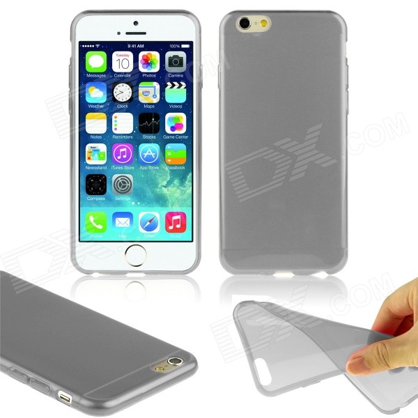 Hat-Prince Ultra-thin Protective TPU Soft Back Case for IPHONE 6 PLUS 5.5 - Translucent GreySilicone Cases<br>Form  ColorGreyBrandHat-PrinceQuantity1 DX.PCM.Model.AttributeModel.UnitMaterialTPUShade Of ColorGrayCompatible ModelsIPHONE 6 PLUSDesignSolid ColorStyleBack CasesPacking List1 x Back case<br>