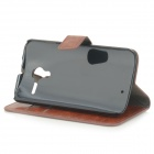 Protective Flip-Open PU Leather Case w/ Card Slots for Motorola Moto X - Brown