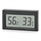 "1.9"" Mini Digital LCD Humidity / Hygrometer and Thermometer - Black"