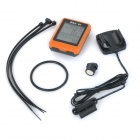 "Bikevee Water Resistant 20-Function 1.6"" Screen Wired Electronic Bike Computer - Orange (1 x CR2032)"