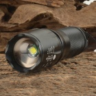 UltraFire W-878 900lm 5-Mode White Zooming Flashlight w/ CREE XM-L T6 - Black (1 x 18650 / 3 x AAA)