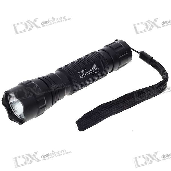 UltraFire WF-501B 5-Mode 320-Lumen Memory LED Flashlight w/ Cree XPG-WCR5 / Strap (1*18650/2*16340)
