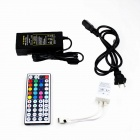 KINFIRE Waterproof 36W 300-3528 SMD LED RGB Light Strip + Controller + US Plugss Adapter Set (12V)
