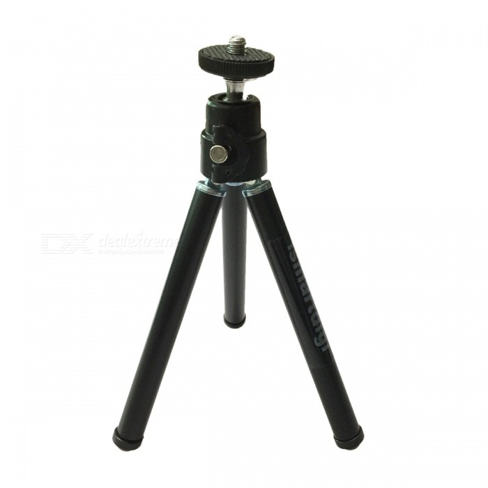 Mini Aluminum Tripod w/ Single-Deck Three Sections - BlackTripods and Holders<br>Form ColorBlackModelI-12-3-BKMaterialAluminumQuantity1 setTypeTripodRetractableNoScrew Size1/4Full Size 29 x 2.2 x 2 cmRing Diameter2.4cmMin.Height15.5 cmMax.Height29 cmMax.Load1000 gSection Number3Packing List1 x Tripod<br>