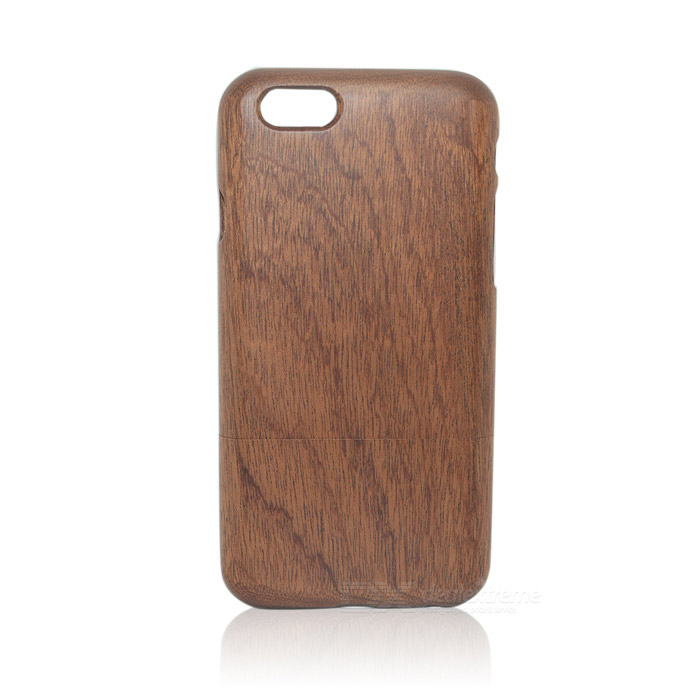 Retro Style Protective Walnut Wood Back Case for IPHONE 6 4.7 - BrownOther Cases<br>Form  ColorBrownBrandN/AModelLS-I6Quantity1 DX.PCM.Model.AttributeModel.UnitMaterialWoodShade Of ColorBrownCompatible ModelsIPHONE 6DesignSolid ColorStyleBack CasesMaterialWoodPacking List1 x Back case<br>