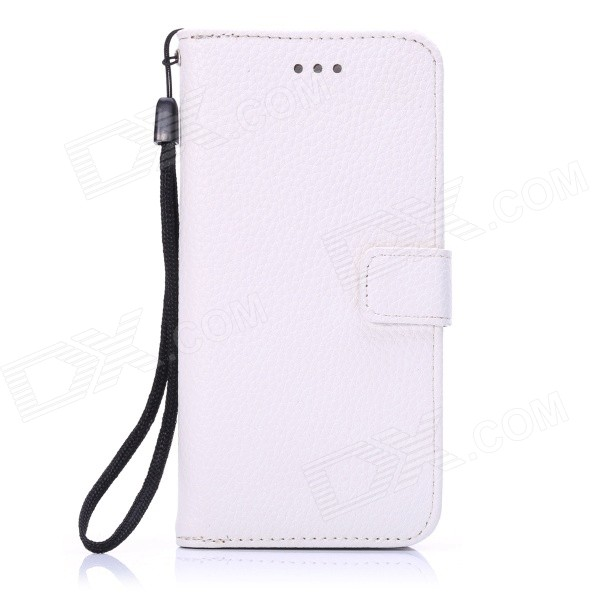 ENKAY Protective PU Leather Case w/ Stand and Card Slots for IPHONE 6 4.7 - WhiteLeather Cases<br>Form  ColorWhiteBrandENKAYQuantity1 DX.PCM.Model.AttributeModel.UnitMaterialPU Leather + PlasticShade Of ColorWhiteCompatible ModelsOthers,IPHONE 6StyleFull Body CasesDesignSolid Color,With Stand,Card SlotAuto Wake-up / SleepNoPacking List1 x Protective Case<br>