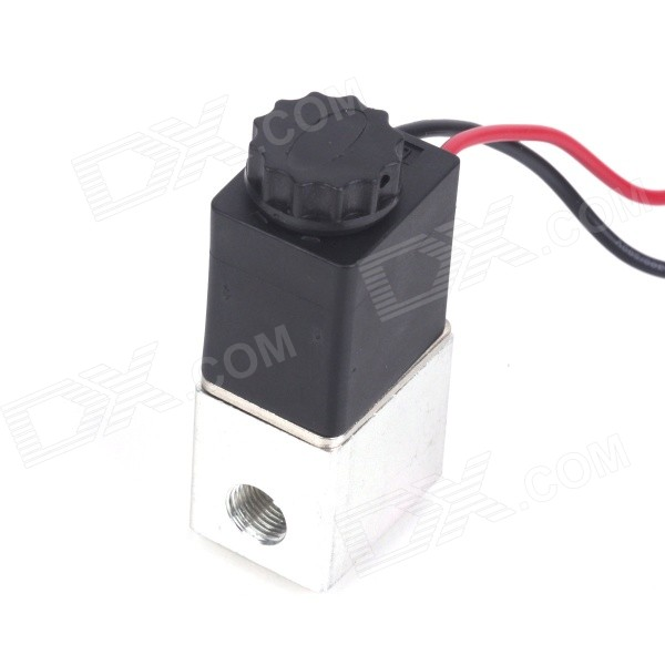 "PT1/8"" 2-Way Normally Closed Pneumatic Aluminum Electric Solenoid Air Valve (12V DC)"
