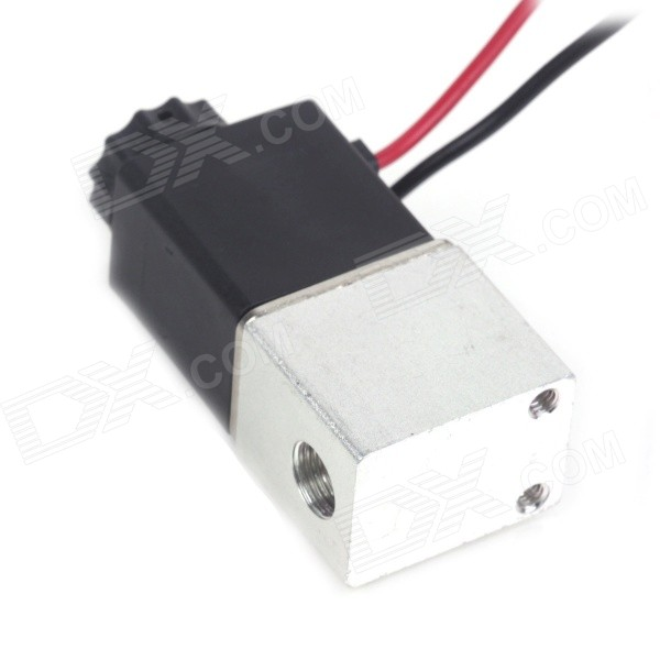 2 Way 12V DC 1//8 Normally Closed Pneumatic Aluminum Electric Solenoid Air Valve