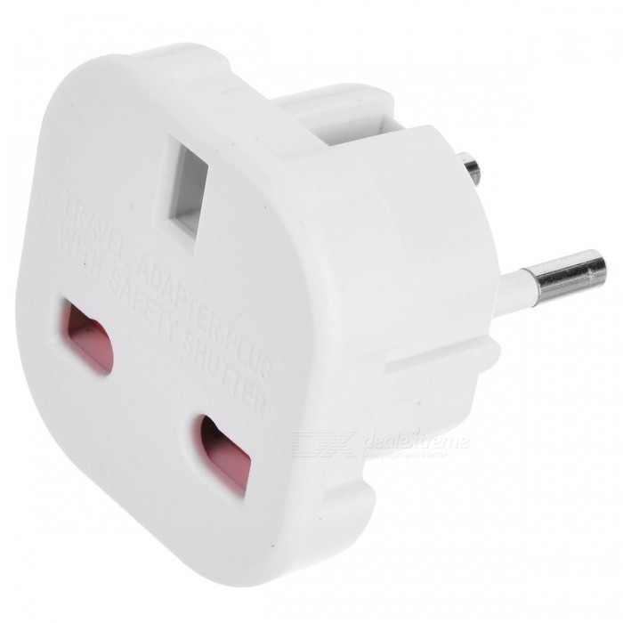 Buy UK to EU AC Power Travel Plug Adapter Socket Converter (10A, 16A 240V) with Litecoins with Free Shipping on Gipsybee.com