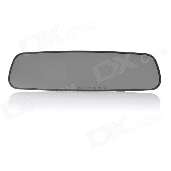 "L600 10"" TFT HD 1080P CMOS Wide-Angle IR Night Vision Car Rearview Mirror DVR Camcorder - Black"