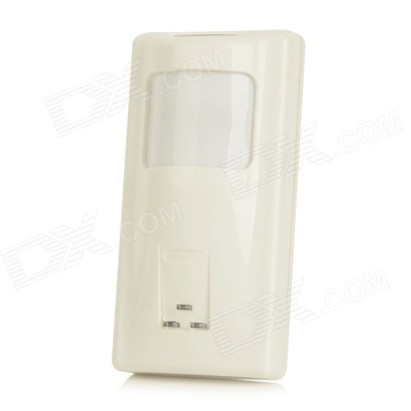 Infrared + Microwave Dual Mode Motion Sensor Digital Smart Security Detector - White