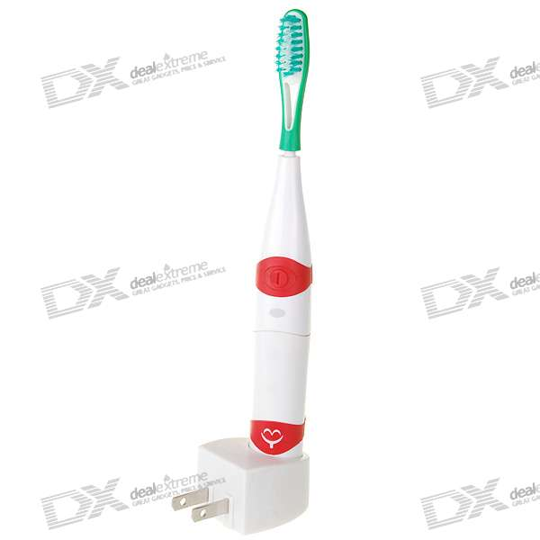 Rechargeable Cordless Electric Toothbrush with 2-Head (100~240V)
