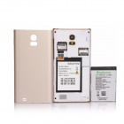 "Z9005+ MTK6572 Dual-Core Android 4.4.2 WCDMA Bar Phone w/ 4.0"", 2GB ROM, GPS, FM - Gold + White"