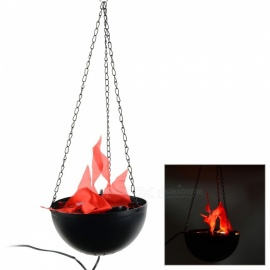8W-420lm-2-LED-Red-Artificial-Flame-Firepan-Electronic-Halloween-Decoration-Pendant-Lamp-Black