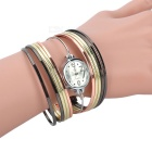 Stylish Zinc Alloy Quartz Analog Wrist Watch / Bracelet for Women - Golden + Multicolored (1 x 626)