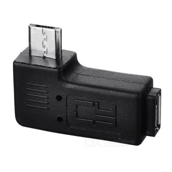 CY U2-267-LE 90 Angled Micro USB 2.0 5Pin M to F Adapter - BlackAdapters<br>Form  ColorBlackBrandCYModelU2-267-LEQuantity1 DX.PCM.Model.AttributeModel.UnitMaterialPVCShade Of ColorBlackCompatible ModelsOthers,SamsungFunctionData syncConnectorMicro USBPacking List1 x Converter<br>