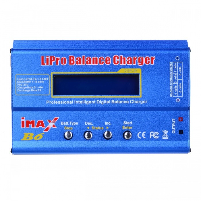 "iMAX B6 2.5"" LCD RC Lipo Battery Balance Charger - Blue (US Plug)"