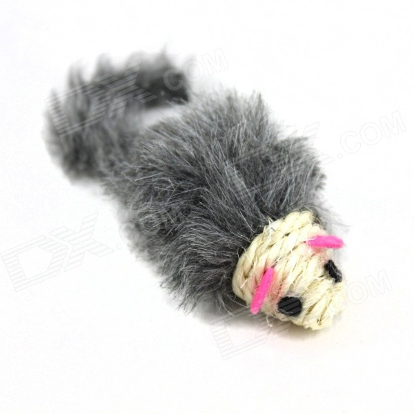 Cute Mouse Style Cotton + PVC Cat Toy - Grey + WhitePet Toys<br>Form ColorGrey + White + Multi-ColoredMaterialCotton + PVCQuantity1 DX.PCM.Model.AttributeModel.UnitSuitable ForCatPacking List1 x Toy<br>