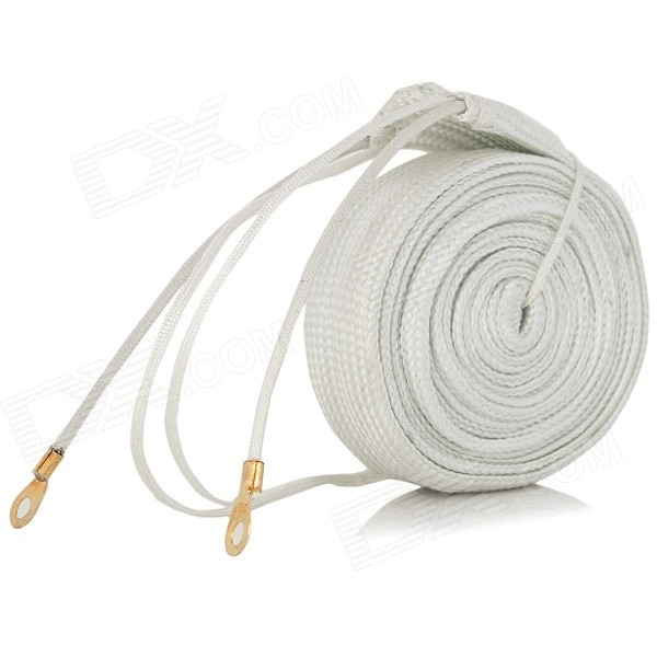 Buy 220V 220W Fiber + Copper Wire Heating Cable - White (200cm) with Litecoins with Free Shipping on Gipsybee.com