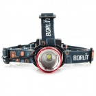 BORUiT RJ-2166 3-mode 860lm Neutral White Light Zooming Headlamp - Red